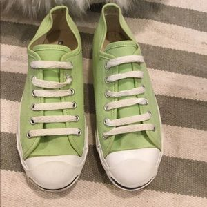 Converse Jack Purcell Light Green Low Tops